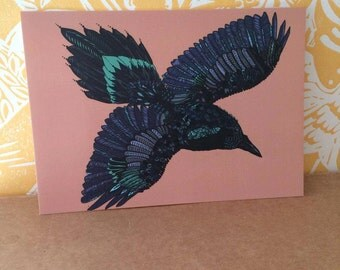 Little Raven Postcard