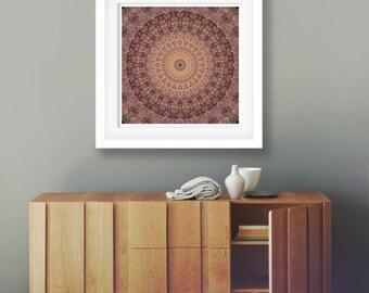 Printable mandala wall art, Mandala wall hanging, digital download art, modern mandala art, Mandala print, Mandala wall decor, download art