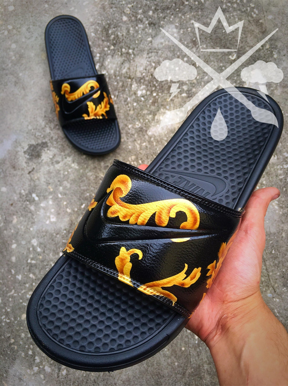 Black jordan sandals -  Zoom