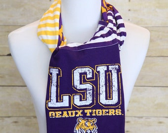LSU Tigers Scarf, Game Day, Accessories, Geaux Tigers