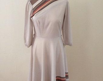 1970's Beige Dress