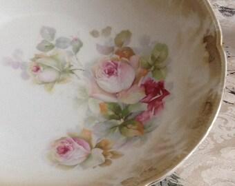 Lusterware Rose Bowl
