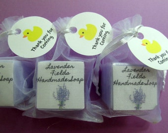Baby Shower Soap Favors Set Of 20 Party Favors Lavender Scented Mini Soap Favors  Baby Shower