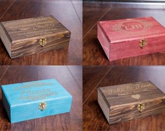 Cigar Box, Jewelry Box, Memory Box, Storage Box, Multi Purpose Gift Box, Groomsman Bridesmaid, Engraved Wedding Gift