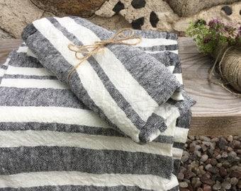 Pure Linen Tea Towel/ hand towel. Softened, rustic linen. Heavy weight linen
