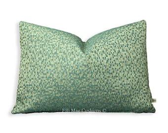 Osborne and Little MosiacLuxury Designer Blue Geometric Contemporary Lumber Cushion Pillow Cover
