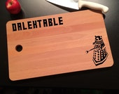Doctor Who Dalek Inspired Dalektable Laser Engraved Birch Wood Cutting Board