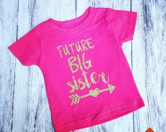 Future big sister shirt, pregnancy announcement shirt, soon to be big brother shirt, new baby announcement, promoted to big sister shirt