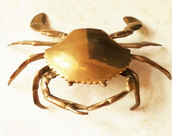 Brass Crab, Mid-Century, 60s, Beach, New England