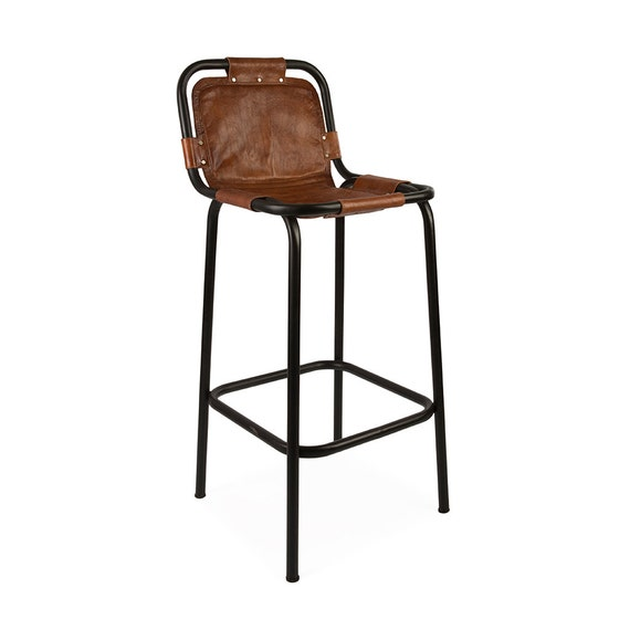 Industrial Leather Bar Stool Set of 2 : il570xN886415691fei2 from www.etsy.com size 570 x 570 jpeg 22kB