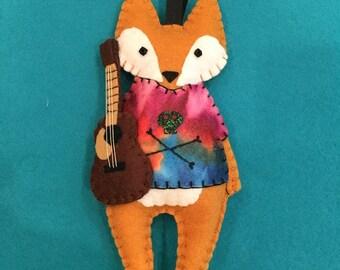 Felt RockerFox Ornament