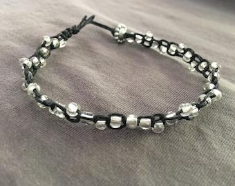 Linen cord bracelet