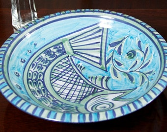 Bowl ceramic handpainted