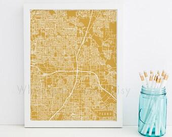 Plano Map Art Plano Print Plano Art Print Plano Poster Plano Printable Plano City Art Plano Texas Art Plano Digital Plano Printable Art