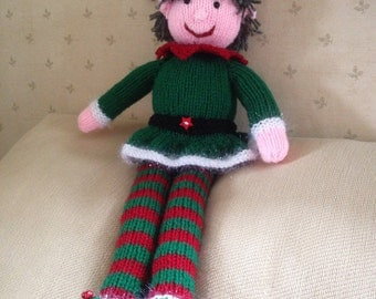 Christmas Elf, Knitted Elf, Christmas Decoration