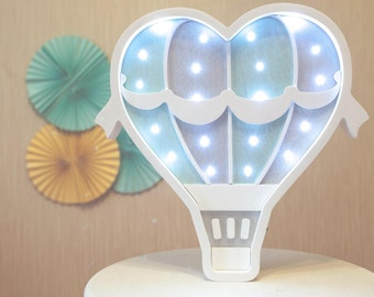 Hot Air Ballon lamp Wall art  Hot air balloon Night light Lamp Marquee lights Personalized Gift Marquee lights Marquee hot air ballon