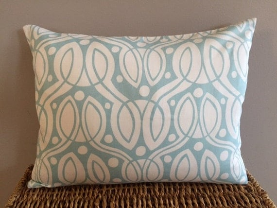 Organic Throw Pillow Inserts : Light Blue Organic Throw Pillow Insert Removable Cover