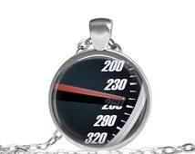 SALE Speed meter jewelry car racing necklace, Sport car racing need for speed necklace, Speed o Meter Jewelry Fast and Furious Necklace Jewe