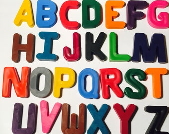 Alphabet Crayons! Party favors. Learning Letters