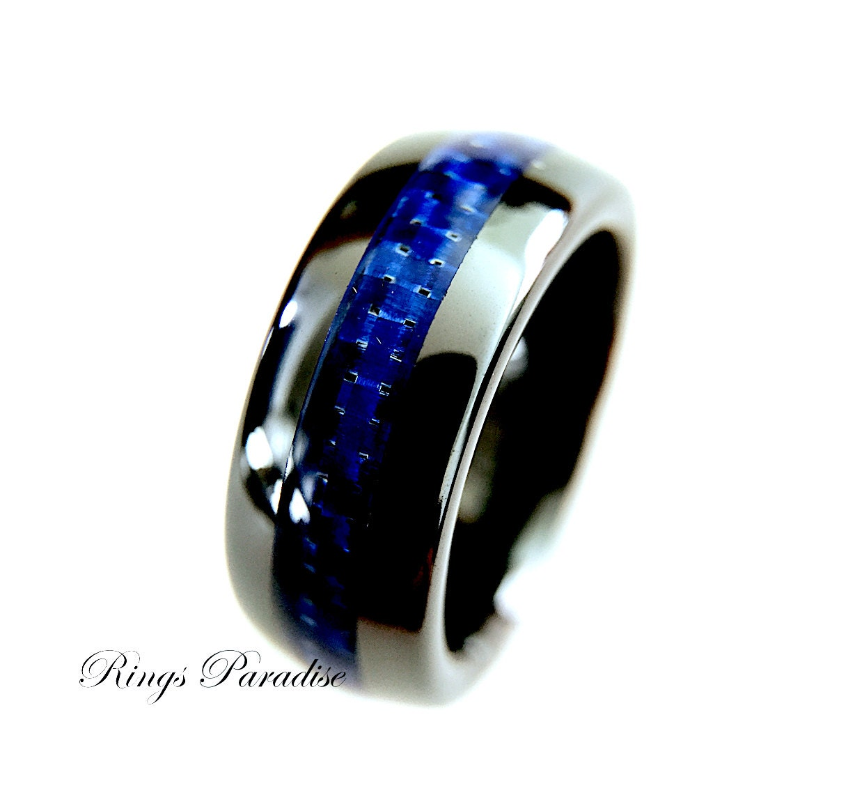 Black ceramic ring mens ceramic wedding band ceramic for Black ceramic wedding ring