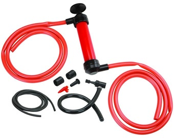 Hand Pump Tool Kit Transfer Muli Use with a Schrader valve and an inflation nozzle for pumping bike tires and sporting equipment