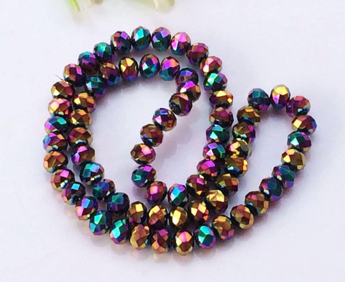 d589f3155 10 Strands Faceted Crystal Roundel Beads, Crystal Rondelle in Rainbow colors,Faceted  Beads For making Jewelry - 8x6mm from mingyuexin on Etsy Studio