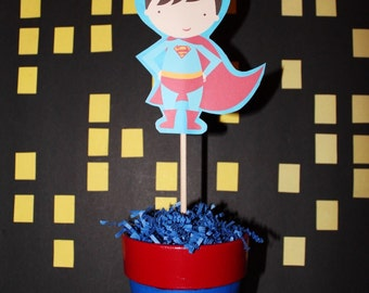 Superhero Centerpiece!  Choose your character!