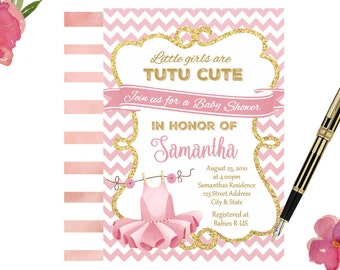 tutu baby shower invitation ballerina baby shower invitations tutu invitations tutu cute baby