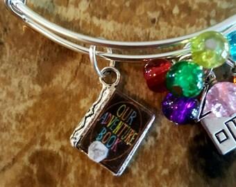 Our Adventure Book Bangle Bracelet