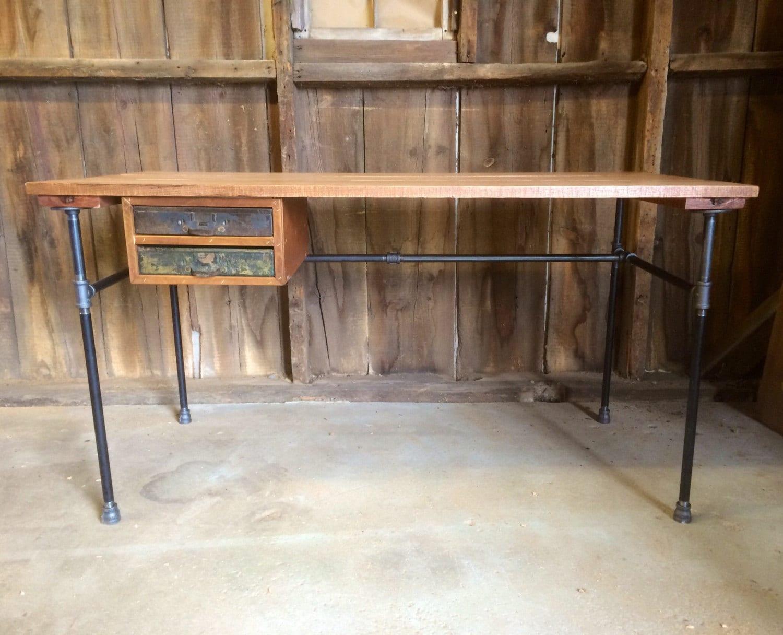 The Engineer's Desk Reclaimed Wood Industrial Office Desk