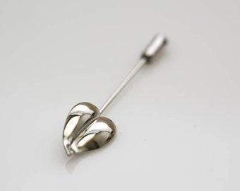 Heart Leaf Stick Pin