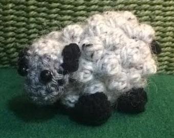 Crochet Wool Sheep, Amigurumi Lamb Plush (Pink or Gray)