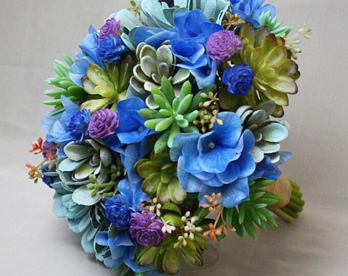 blue green tones mint purple robins egg blue artificial succulent
