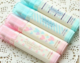 4 Kawaii Cute Erasers, Three Layered Pencil Erasers, Cute Stationery