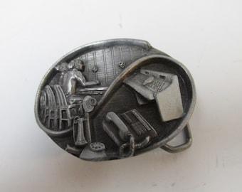 Vintage Siskiyou Telephone Belt Buckle 1988 American Communication Industry Phones