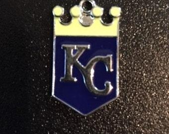 Kansas City Royals Baseball Charm 15mm Wide/21mm Legnth