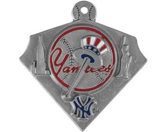 New York Yankee Triangle Baseball Charm
