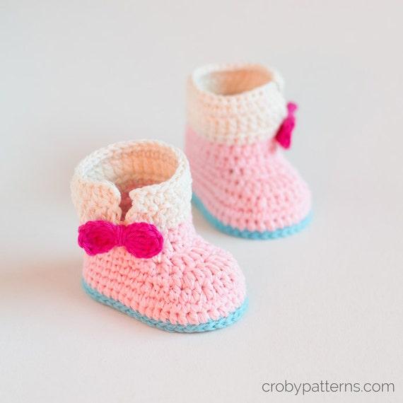 CROCHET PATTERN Crochet Baby Booties Baby Unicorn Baby