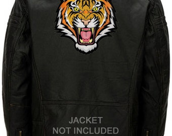 Large BENGAL TIGER PATCH embroidered iron-on Jungle Safari Souvenir Wild Animal Roaring