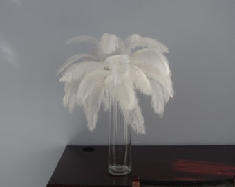 16-18inch white  ostrich feathersostrich feather for wedding table centerpiece,feather centerpiece,white ostrich feathers