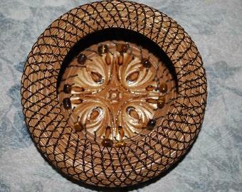 """Pine Needle Basket """"Tiger's Eye Den"""""""