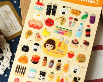Sticker food collection 3D (A 1063)