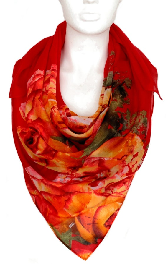 large cotton scarf large square scarf summer by