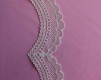 Ivory Corded Lace Edgings for trimming wedding dresses or veils. Choice of 3 Designs
