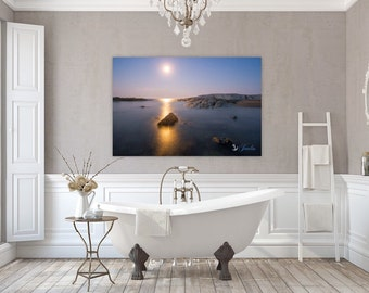 Moonlight ~ Ocean Drive, Newport, Rhode Island, Canvas, Fine Art Photography, Wall Art, Home Decor, Sunset, Ocean, Seascape, Coastal, Beach
