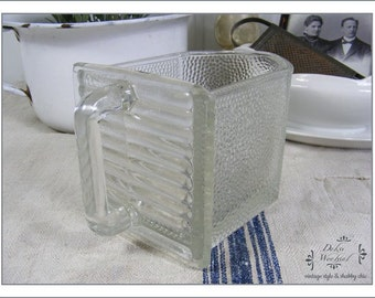 Vintage large glass drawer - country living