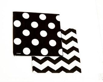 Large Black Polka Dot Napkins