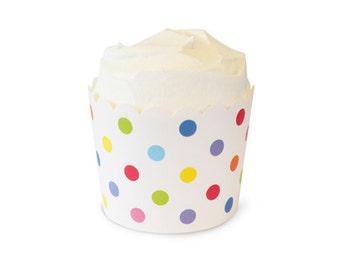 Rainbow Polka Dots Baking Cups