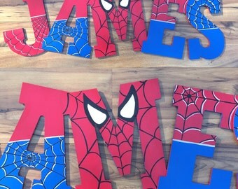 Spiderman Letters 10.5""