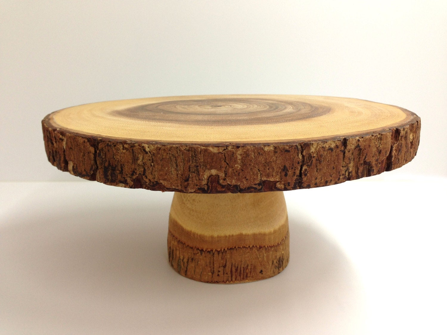 10 Rustic Cake Stand Wood Cake Stand Pedestal Stand Log